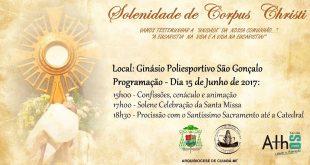 Solenidade de Corpus  Christi – 15 de junho-2017