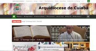 Acessos Site da Arquidiocese de Cuiabá em 2017