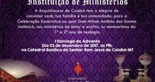 Instituição de Ministérios na Arquidiocese