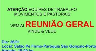 Reunião Geral de Preparação 32º Vinde e Vede