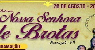 Festa na Paróquia Nossa Senhora de Brotas em Acorizal MT