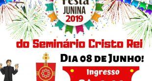 Está chegando o Arraiá do Seminário Cristo Rei
