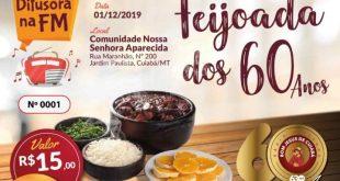 Rádio Difusora Bom Jesus de Cuiabá realiza Feijoada dos 60 anos