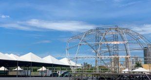 Montagem das estruturas no 34º Vinde e Vede