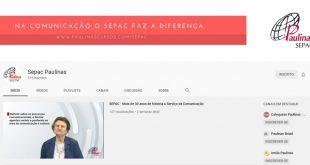 Live no Youtube do SEPAC (Nos caminhos da comunicação)